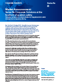 Swiss Re Corporate Solutions Announcement