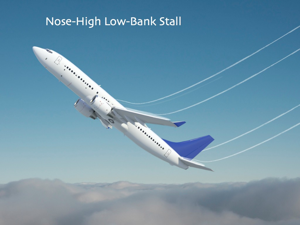 Nose-High Low-Bank Stall