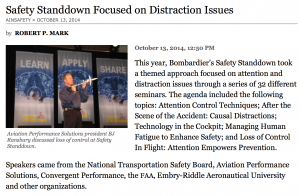 AIN: Bombardier Safety Standdown