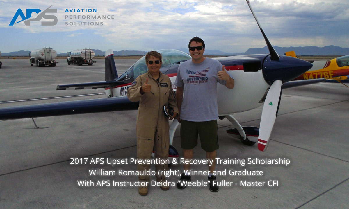 2017 APS Upset Prevention and Recovery Training Scholarship Winner