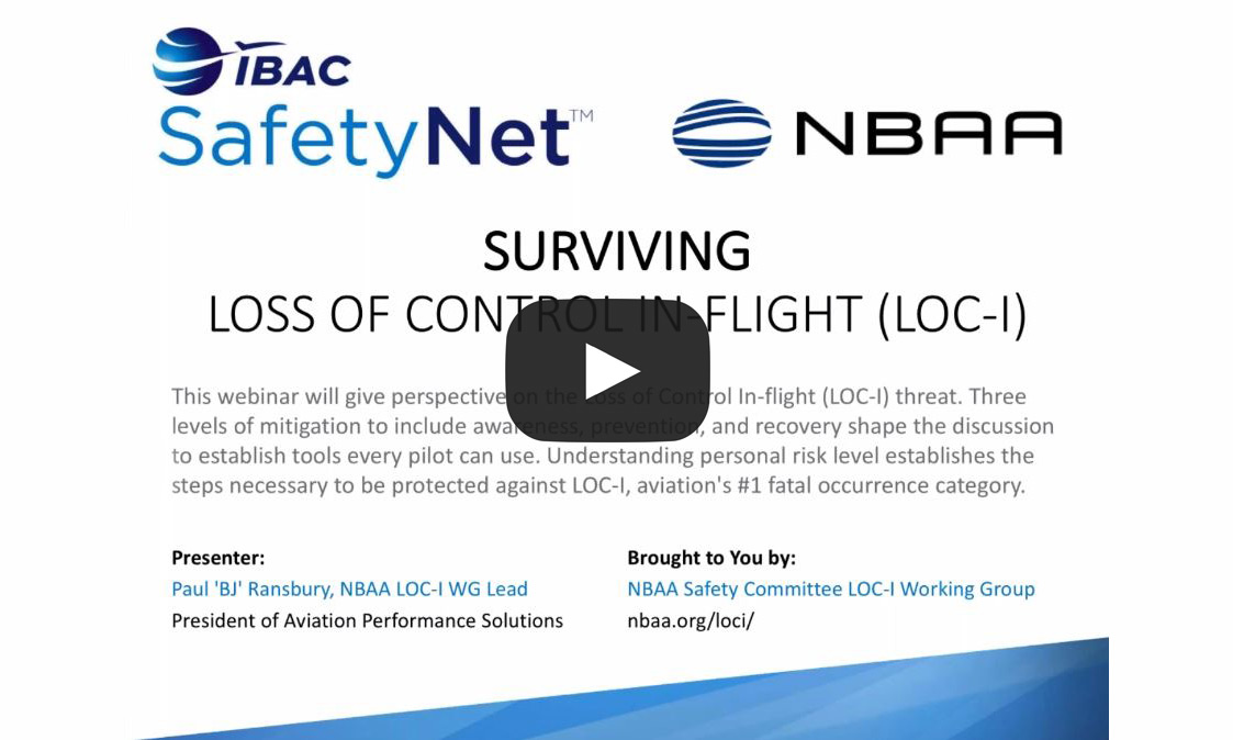 Loss of Control In-flight Webinar